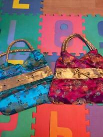Real silk Chinese bags