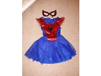 Spider-Girl costume and mask age 3-4