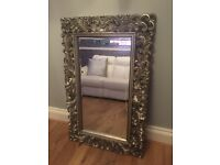 Stunning silver ornate mirror in brand new condition only a few months old!!