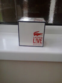 mens lacoste live 100ml (boxed and wrapped)