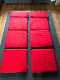 IKEA Poang Chair and Footstool Covers (Red) - 2 Sets