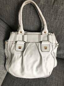 Temperley of London white leather tote