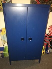 Ikea boys blue wardrobe and draws