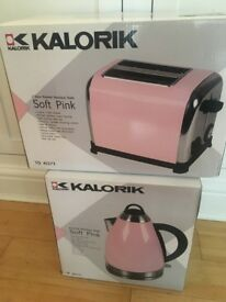 NEW Soft Pink Kettle and Toaster RRP £72