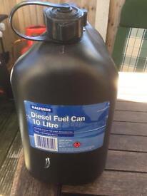 Diesel 10 litre plastic fuel cans x3
