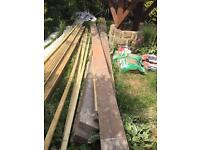 Timber joists 8 in total