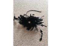 Coast black feathered fascinator