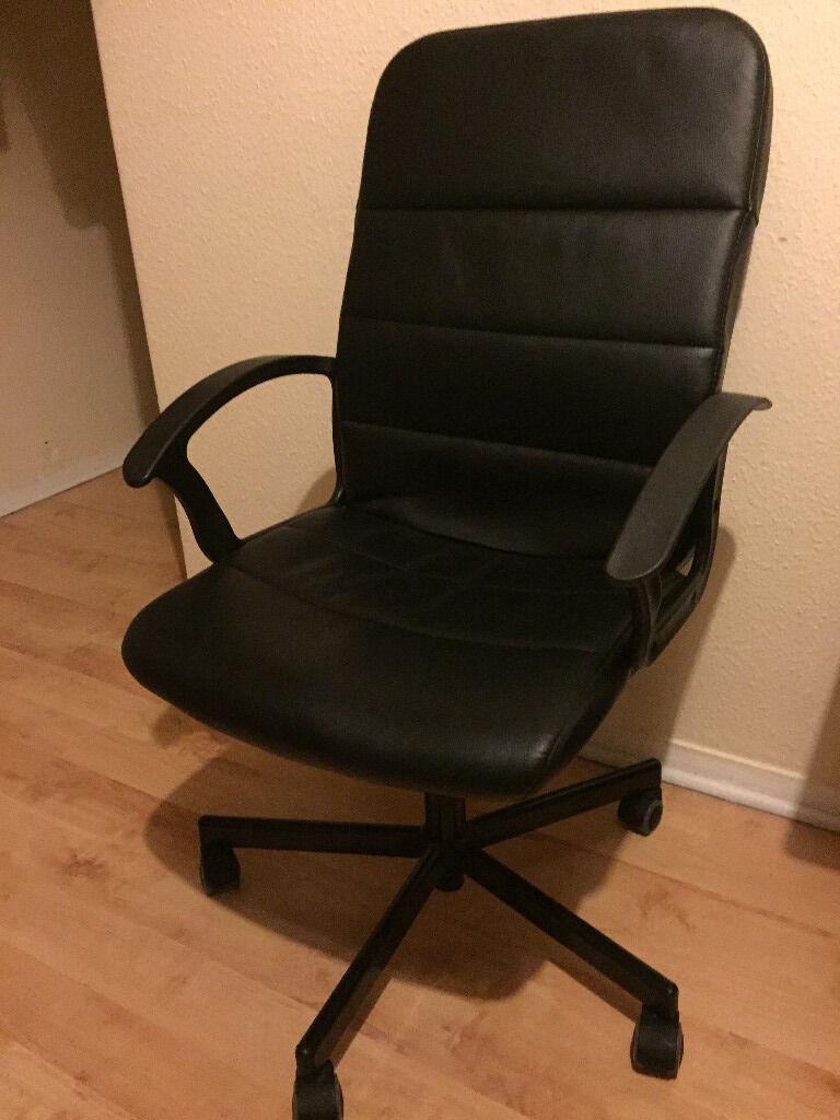 ikea torkel leather swivel office chair in camberwell london