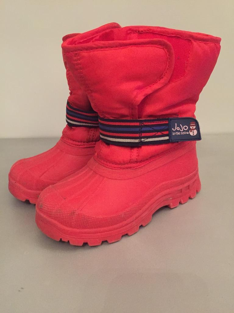JoJo Red winter snow boots