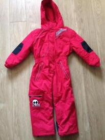 Red No Fear Snowsuit Age 5-6 years
