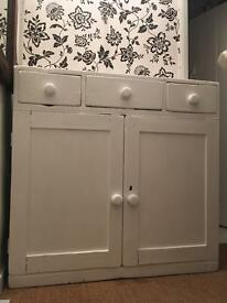 Pine white cupboard