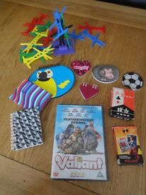 Valiant DVD, Note Books, Balance Game and Cards.