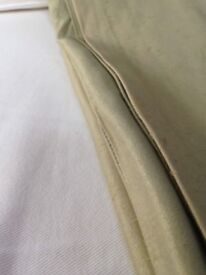 Curtains - Moire Silk in sage green , incl linings