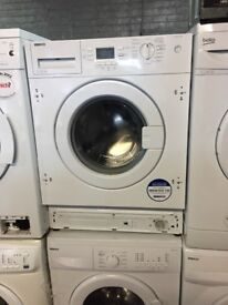 pure white beko integrated washing machine it's 7kg 1600 spin in excellent condition