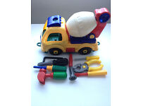 Construction Toy Lorry And Tools
