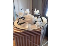 Size 10 condici mother of the bride outfit navy and cream stunning full outfit dress jacket and hat