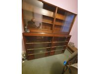 Large 3 piece bookcase/display cabinet