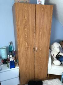 Toddlers wardrobe, drawers and bedside cabinet set