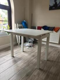 IKEA white extendable table REDUCED