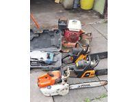 chain saws.electric bleaker...garage clearing...need gone asap.