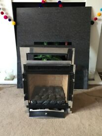 Free gas fire and surround