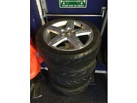 """2002 Audi A3 Sport 17"""" alloy wheels with very good tyres"""