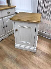 Solid pine farmhouse cupboard shelf storage unit