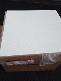 Suspended ceiling tiles 600 600 12pack premium Matt white