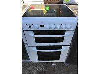 INDEIST 60CM CEROMIC TOP ELECTRIC COOKER IN WHITE