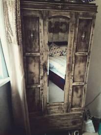 Wardrobe with single drawer
