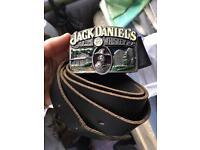 Genuine Jack Daniels leather belt