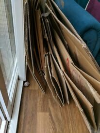 Used boxes and packing material