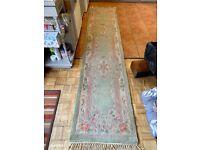 Thick wool runner rug 300 x 69 cm