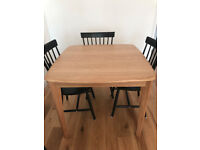 New *MADE* Extendable Solid Oak Dining Table (Seats 4-6)