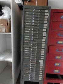 multi drawer grey metal cabinet