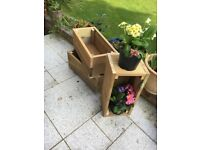 Small and Large decking wooden garden planter, wood trough, handmade