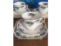 Gladstone blue and yellow Aztec floral china set
