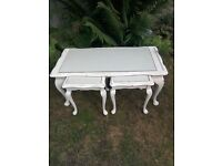 Shabby chic nest of three coffee table