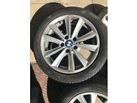 Bmw 5 series 17' rims + new run flat tyres