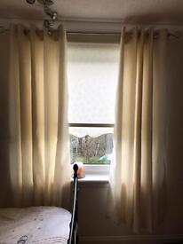 Cream Sateen Curtains
