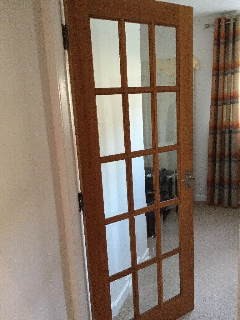 Wooden 15 Glass Pane Interior Door In Stewarton East Ayrshire