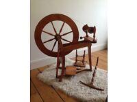 Ashford Traditional Spinning Wheel, Lazy Kate, large Niddy Noddy and 3 bobbins .