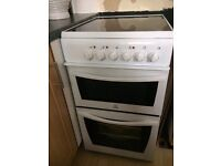 Indeset electric double oven cooker 500 w x 600 d excellent condition