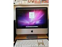 20 InchiMac2.4Ghz Intel Core 2 Duo, 4GB Ram, 320GB Hard Drive, 256MB ATI Radeon HD Graphics Card