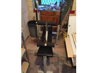 YORK multigym weights gym bench with rack NO WEIGHTS WITH BENCH