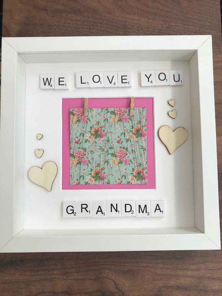 We Love You Grandma White Photo Frame Scrabble Letters In Calcot
