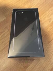 IPHONE 7 128GB JET BLACK UNLOCKED BRAND NEW ONE YEAR APPLE WARRANTY AND SHOP RECEIPT