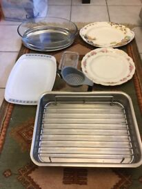 Excellent quality stainless steel roasting dish plus other items