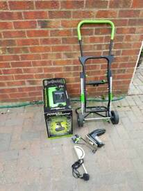 Power 8 Workshop with trolley, case, drills saws