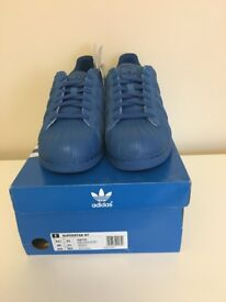 Adidas Superstar in Blue Suede: BNIB with Tags